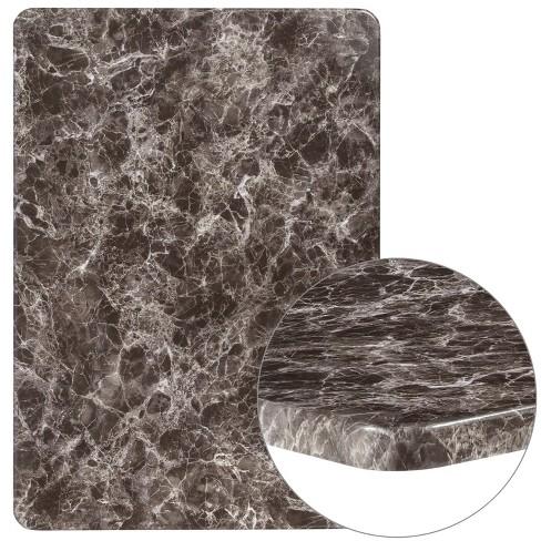 "Flash Furniture 30"" x 42"" Rectangular Gray Marble Laminate Table Top - image 1 of 4"