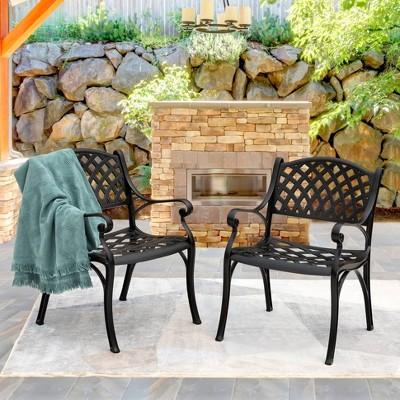 2pc Cast Aluminum Dining Chairs - Nuu Garden