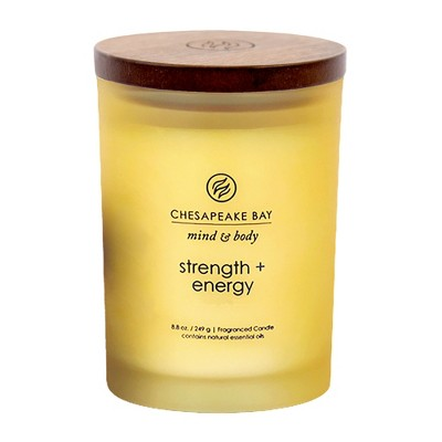8.8oz Medium Jar Candle Strength & Energy - Mind And Body By Chesapeake Bay Candle