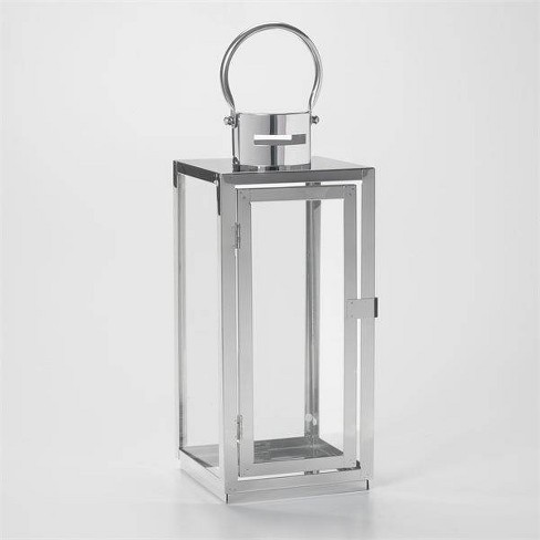 """15"""" Daphne Stainless Steel Metal Outdoor Lantern with Door - Smart Living - image 1 of 4"""
