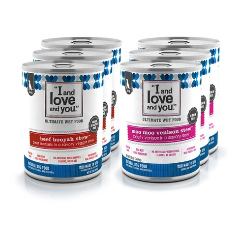 I and Love and You Multipack (Beef Booyah Stew & Moo Moo Venison Stew) Wet Dog Food - 13oz/6pk - image 1 of 3