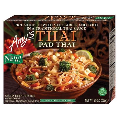 Amy S Gluten Free Frozen Pad Thai Meal 9 5oz