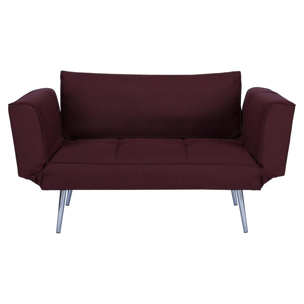 Image of Euro Futon With Magazine Storage Berry - Dorel Home Products