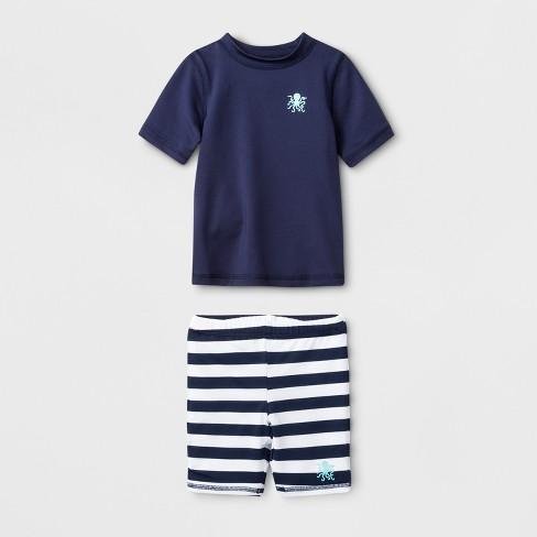 9a680814f9 Baby Boys' Short Sleeve Rash Guard With Shorts - Cat & Jack™ Navy ...