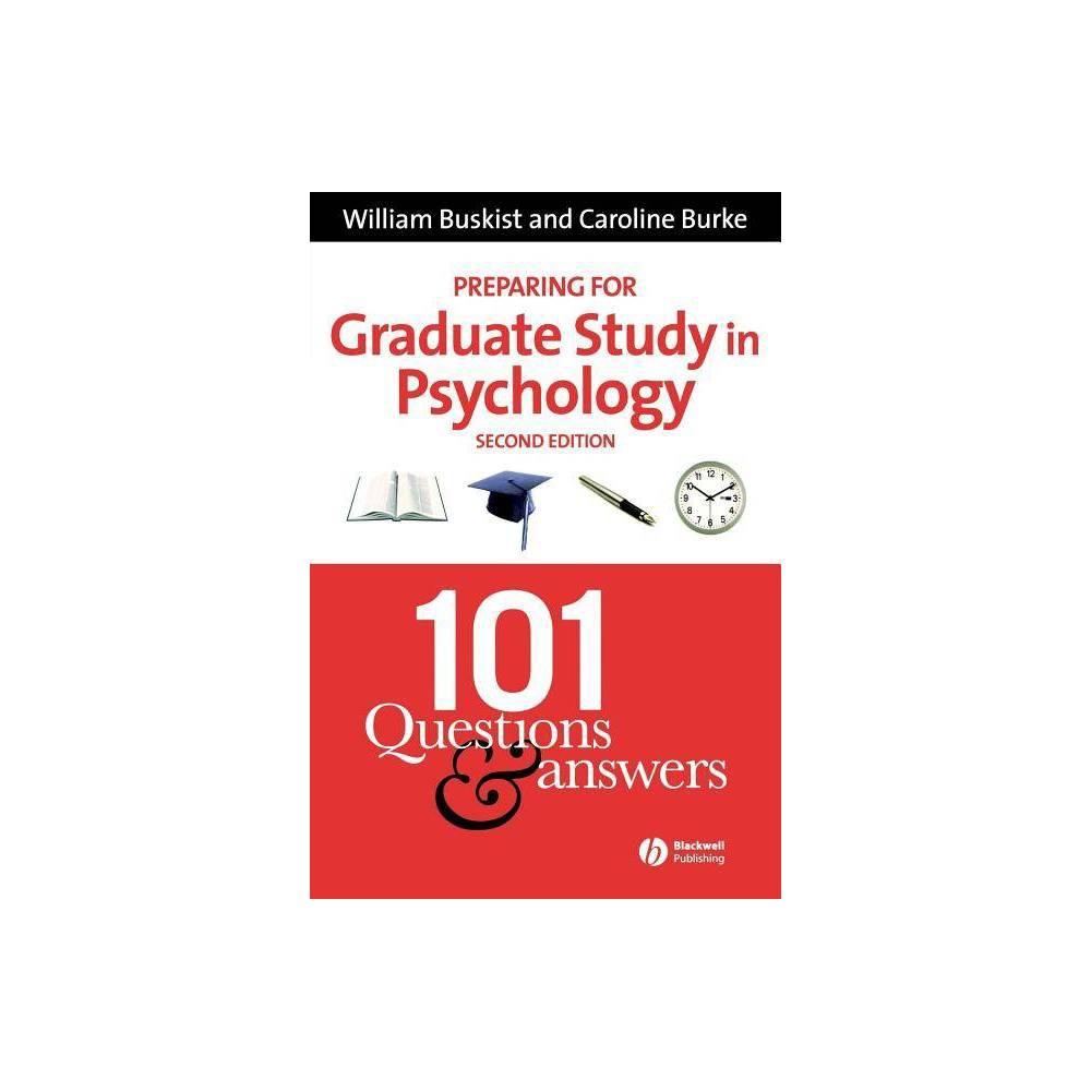 Preparing For Graduate Study In Psychology 2nd Edition By William Buskist Caroline Burke Paperback