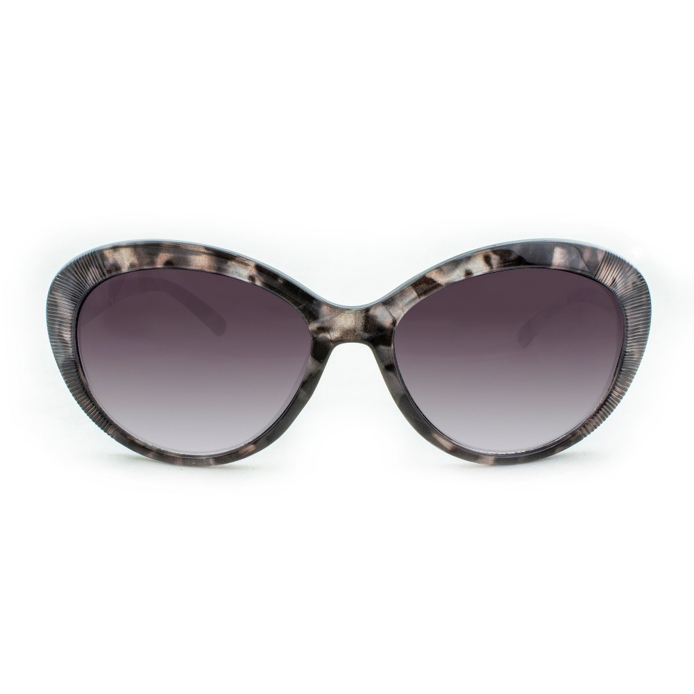 Image of Women's Oval Sunglasses With Smoke Gradient Lens - A New Day Tort, Size: Small, Grey