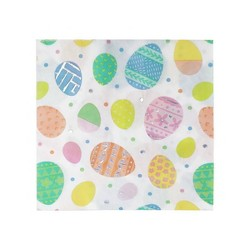 20ct Premium Easter Lunch Napkins Egg Pattern With Foil - Spritz™