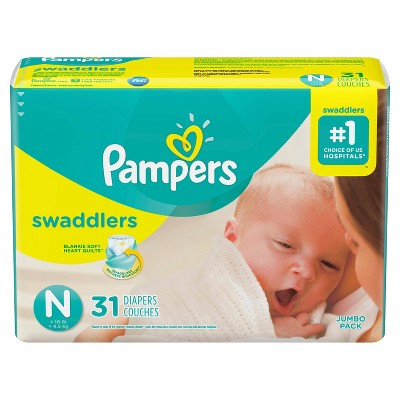 Pampers Swaddlers Diapers Jumbo Pack - Size Newborn (31ct)