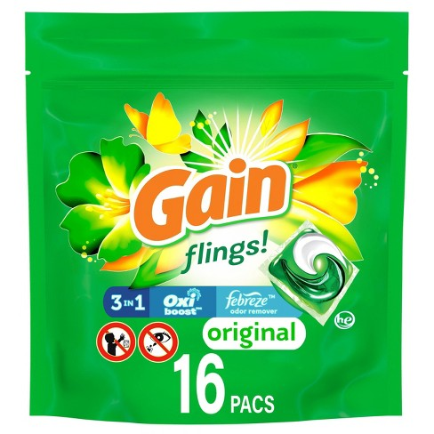 Gain flings! Laundry Detergent Pacs Original - image 1 of 4