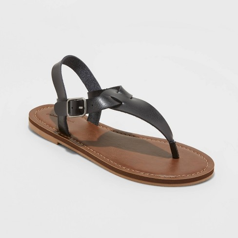 Women's Lady T Strap Sandals - Universal Thread™ - image 1 of 3