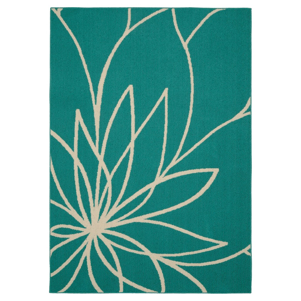 Garland Grand Floral Area Rug - Teal/Ivory (Blue/Ivory) (5'X7')