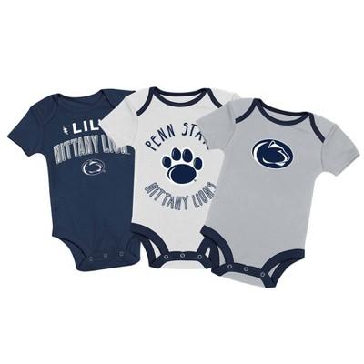 NCAA Penn State Nittany Lions Baby Boys' 3pk Bodysuit Set