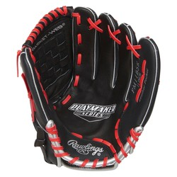 "Rawlings Playmaker Series 11"" Baseball Glove - Black/Red"