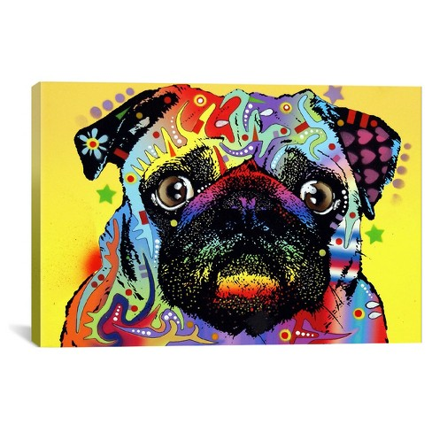 Pug by Dean Russo Canvas Print - image 1 of 2