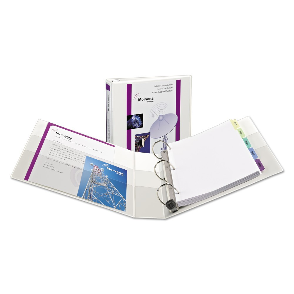 Avery Heavy-Duty View Binder with Locking 1-Touch Ezd Rings, 1 1/2 Cap, White