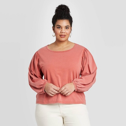 Women's Plus Size Long Sleeve Top - Universal Thread™  - image 1 of 3