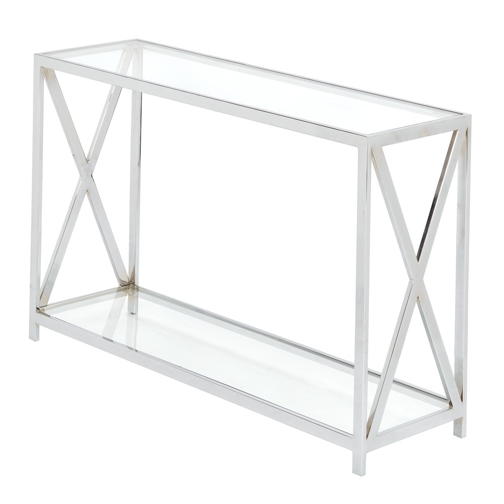 Console Table Silver, Grey