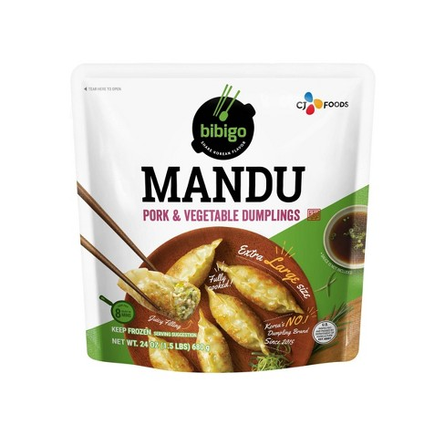 Bibigo Frozen Mandu Pork & Vegetable Dumplings - 24oz - image 1 of 4