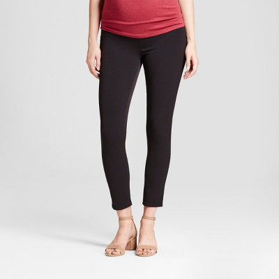 Mid-Rise Crossover Panel Cropped Skinny Maternity Trousers - Isabel Maternity by Ingrid & Isabel™