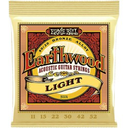 Ernie Ball 2004 Earthwood 80/20 Bronze Light Acoustic Guitar Strings