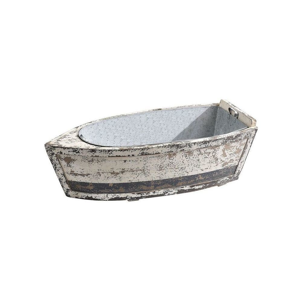 Wood Boat with Tin Insert - 3R Studios