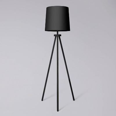 Tripod Floor Lamp Black - Pillowfort™