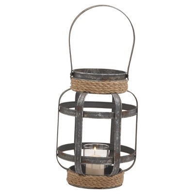 "Rustic Reflections Candle Holder Lantern (12"") - Olivia & May"