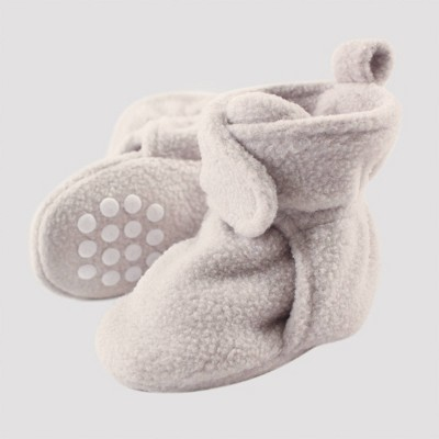 Luvable Friends Baby Fleece Lined Scooties - Light Gray 0-6M