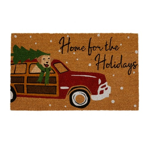 """Home for the Holidays Coir Mat - 18"""" x 30"""" - Natural - Elrene Home Fashions - image 1 of 3"""