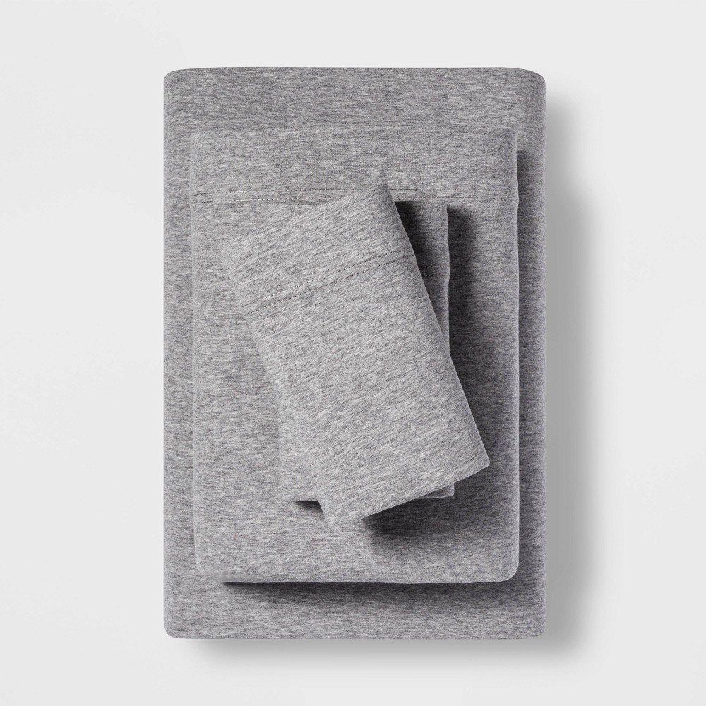 Twin Tencel Jersey Blend Sheet Set Gray - Project 62 + Nate Berkus