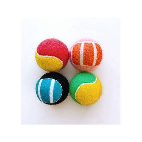 """Dog Tennis Ball Toy - 2.5"""" - 4pk - Boots & Barkley™ - image 1 of 1"""