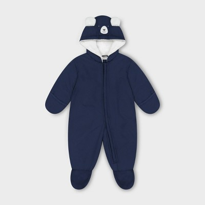 Baby Bear Hooded Pram Snowsuit - Just One You® made by carter's Navy