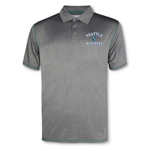MLB Seattle Mariners Men's Your Team Gray Polo Shirt - image 1 of 1