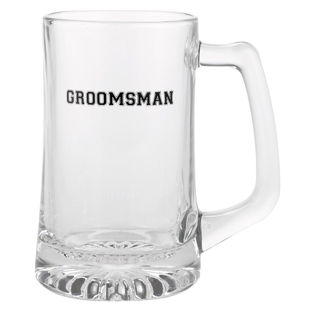 Image of Groomsman Mug - Clear/ Black (5.5)