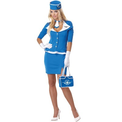 California Costumes Retro Stewardess Adult Costume