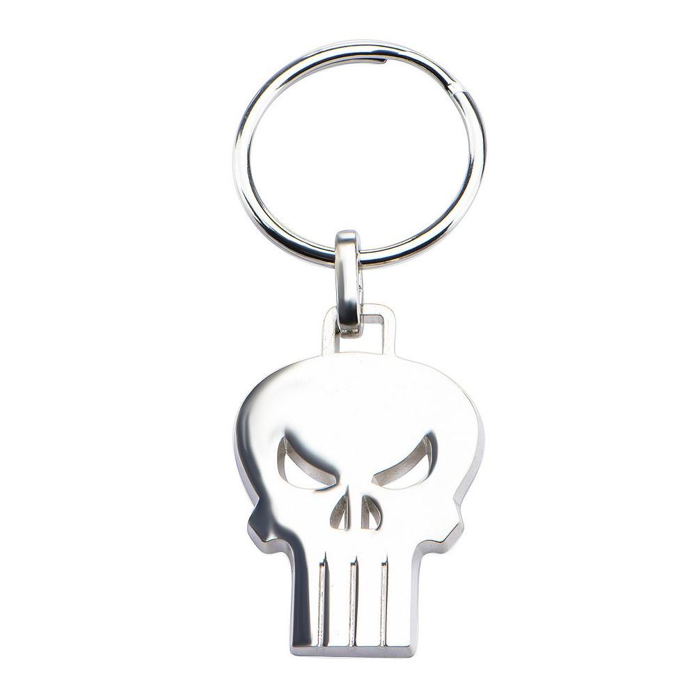 Marvel Punisher Skull Stainless Steel (Silver) Key Chain, Kids Unisex