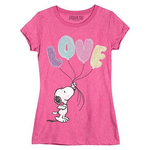 62c864adaca646 Girls' Snoopy T-Shirt : Target
