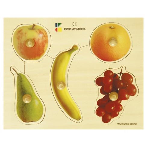 Edushape Large Knob Puzzle - Fruits 6pc - image 1 of 1