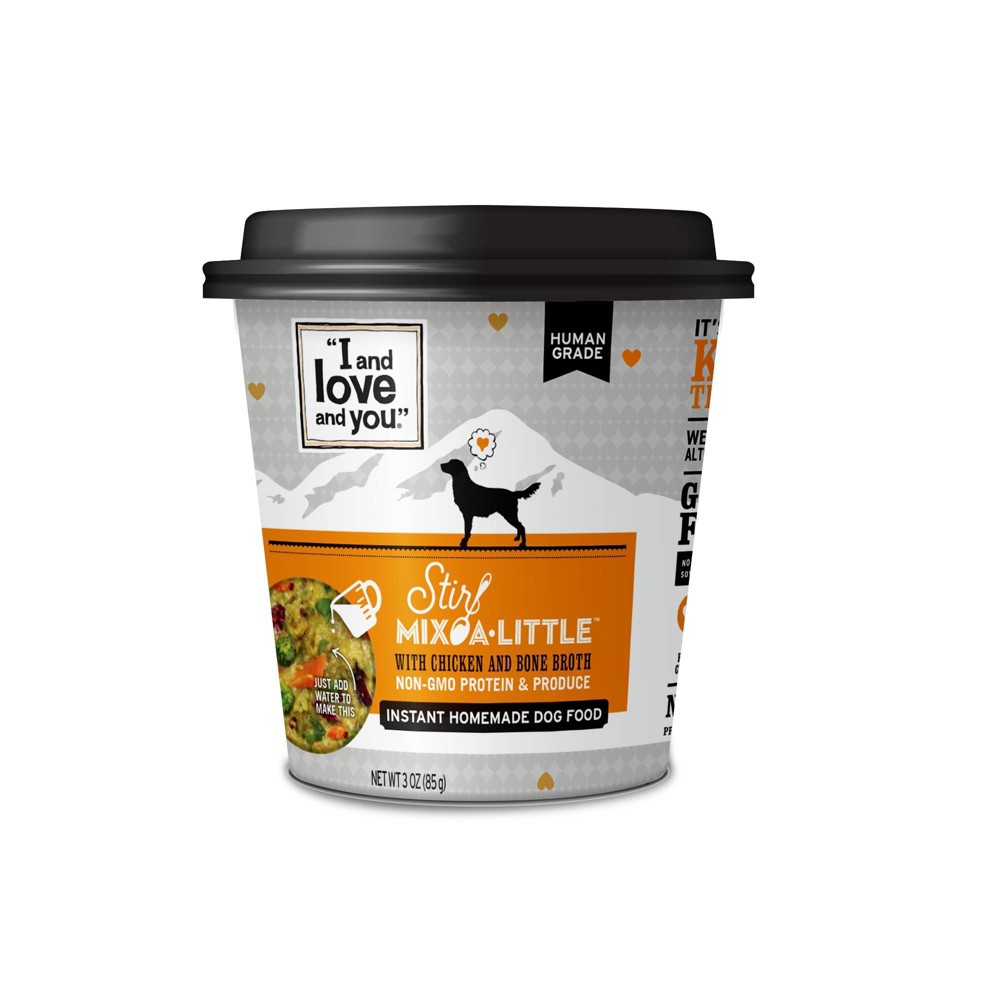 I and Love and You Stir Mix-a-Little Wet Dog Food with Chicken & Bone Broth - 3oz