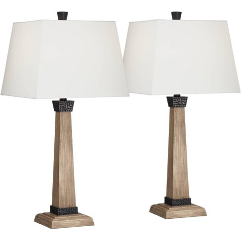 John Timberland Rustic Farmhouse Table, Rustic Lamps For Living Room
