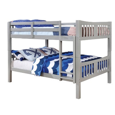 Twin Over Twin Kids' Clare Bunk Bed Gray - ioHOMES