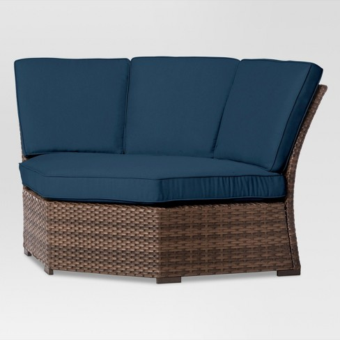 Halsted Wicker Patio Corner Sectional Seat - Threshold™ : Target