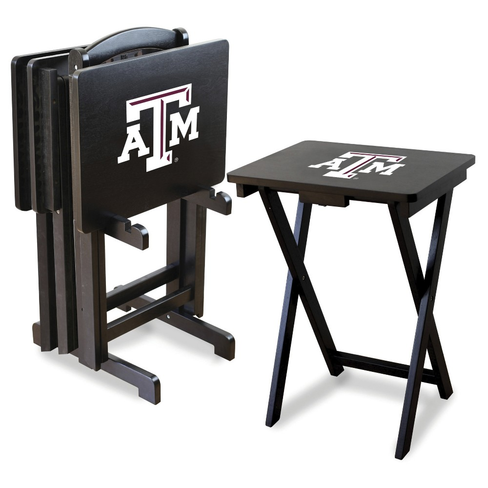 NCAA Imperial TV Trays with Stand - 4pk Texas A&m Aggies