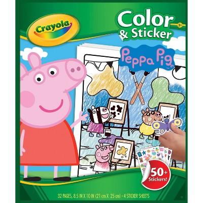 Crayola Peppa Pig Color & Sticker Book : Target