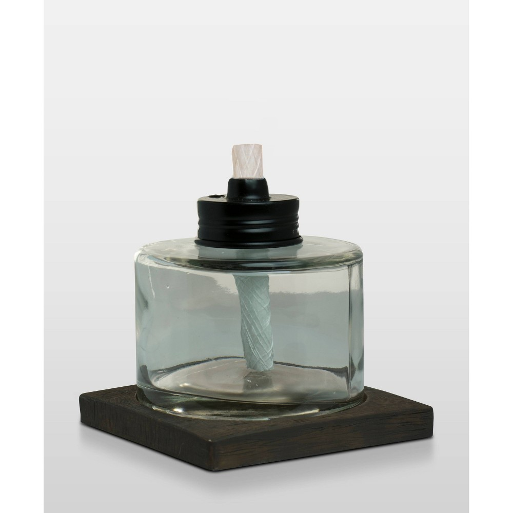 Image of Glass Tabletop Torch Clear - TIKI