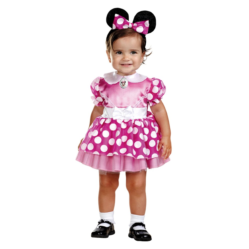 Image of Halloween Baby Girls' Minnie Mouse Costume - 12-18M, Girl's, Size: 12-18 Months
