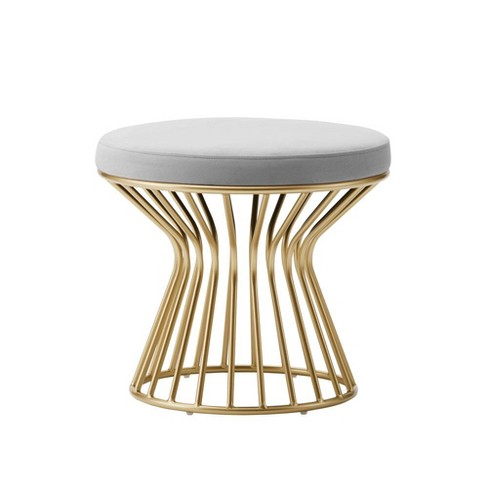Astonishing Eluxury Modern Round Ottoman Caraccident5 Cool Chair Designs And Ideas Caraccident5Info