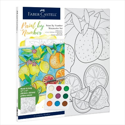 Faber-Castell Paint by Number Watercolor Set - Produce