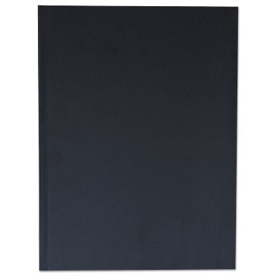 Universal Casebound Hardcover Notebook 10 1/4 x 7 5/8 Black Linen 66353