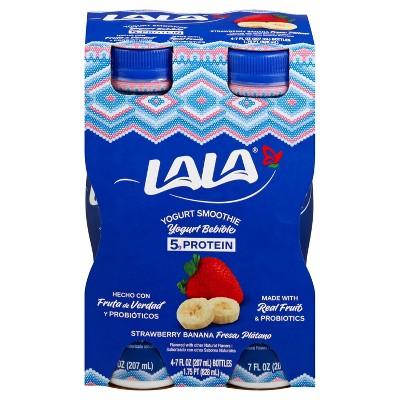 LaLa Strawberry Banana Cereal Yogurt Smoothie - 7 fl oz/4ct